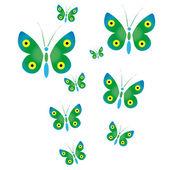 Butterflies — Stock Vector