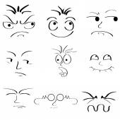 面部表情 — 图库矢量图片