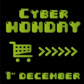 Cyber måndag — Stockvektor