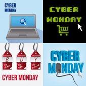 Cyber monday — Stock Vector
