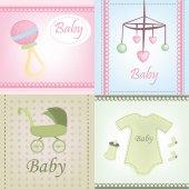 Baby bakgrunder — Stockvektor