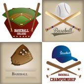 Baseball — Vector de stock