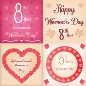 Happy women's day — Stock Vector