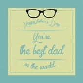 Счастливый отец день — Cтоковый вектор