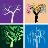 árboles abstractos — Vector de stock