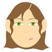 Facial expression — Stock Vector
