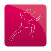 Fitness icon — Stock Vector