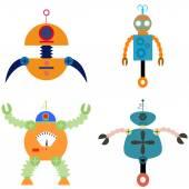 Robot toys — Stock Vector