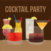 Cocktail — Stock Vector