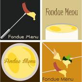 Fondue menu — Stockvector