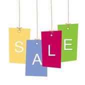 Fiyat etiketleri. Satılık alışveriş torbaları — Stok Vektör