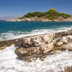 Rugged Greek coastline — Stock Photo #67251405