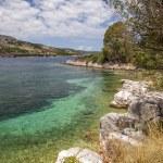 Rocky greek island coastline — Stock Photo #67305949