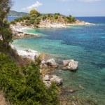 Rocky greek island coastline — Stock Photo #67306045
