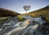 Yorkshire Moorland waterfall — Stock Photo