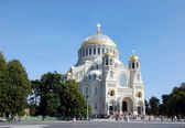 Orthodox Naval cathedral of St. Nicholas in Kronshtadt — Stockfoto