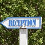 Reception pointer — Stock Photo #55370897