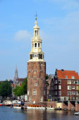 The Montelbaanstoren tower — Stock Photo