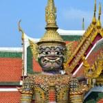 Guardian of Buddhist teaching in Royal Palace of Bangkok, Thailand — Stock Photo #60691931