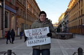 Picket in St. Petersburg — Stock Photo