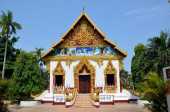 Buddhist temple in Pakse city in Laos — Stock Photo