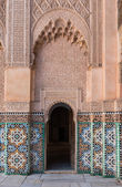 The marble craft of building at Medersa Ben Youssef in Marakesh — Стоковое фото
