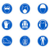 Safety at work signs — Stock Vector
