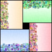 Rectangle Background Vertical Information Color Abstract Set — Stock Vector