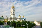 Bell tower of Pochayiv Lavra — Stock Photo