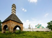 Castle ruins in Mezhirich — Stock Photo