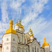One of the temples of Pochayiv Lavra — Stock Photo