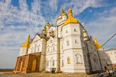 Temple of Pochayiv Lavra during construction — Stock Photo