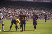 During FC Barcelona match — Stock Photo