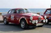 The oldest rally in spain, 63 Rally Costa Brava. Sporting Rally Champ. Lloret de Mar - Girona. — Foto de Stock