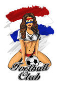 Netherlands soccer fan girl. Vector illustration. — Stock Vector