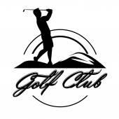 Emblèmes de golf. Conception de l'étiquette rétro. Carte postale — Vecteur