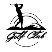 Golf emblems . Retro label design. Postcard — Stock Vector