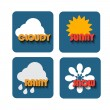 Weather icons set - vector — Stock Vector #74173377
