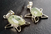 Prehnite pendants — Stock Photo