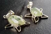 Prehnite pendants — Stock Photo
