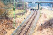 след железной дороги — Стоковое фото