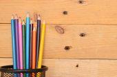 Färgpennor i trä — Stockfoto