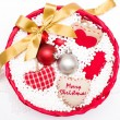 Basket with Christmas decorative objects — Stock Photo #57724113
