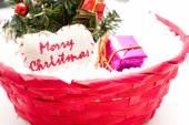 Christmas Tree and Christmas decorations — Stockfoto
