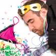 Young man sleeping after a party — Stock Photo #59100343