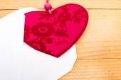 Valentine heart in an envelope — Zdjęcie stockowe