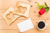 Romantic breakfast — Stock Photo