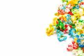 Colored popcorn — Stock Photo
