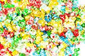 Gekleurde popcorn — Stockfoto