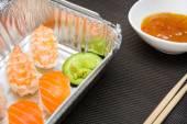 Sushi y wasabi — Foto de Stock